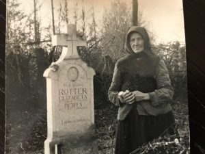 Ca. 1943, Ana Toplak at Djulovac cemetery. Photo contributed by Werner Beyer